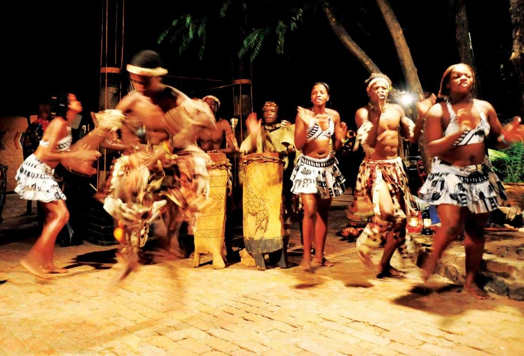 The Boma Dinner & Drum Show dancers